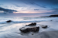 Pentewan Sands in South Cornwall Royalty Free Stock Images