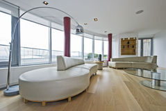 Penthouse living room Royalty Free Stock Images