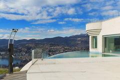 Penthouse with pool, exterior Stock Photography