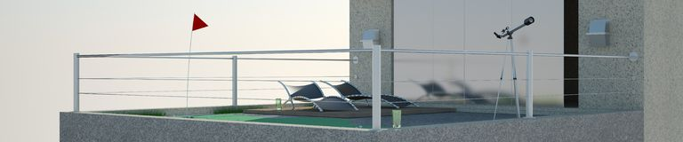 Penthouse - relax panoramic background Royalty Free Stock Photography