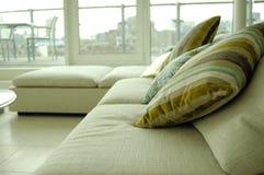 Penthouse sofa. Sofa in an expensive penthouse Stock Photos