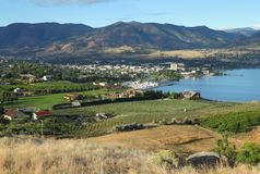 Penticton, British Columbia. Downtown Penticton on the shores of Okanagan Lake. British Columbia, Canada Stock Image