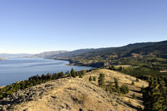 Penticton British Columbia Okanagan Valley. View of Naramata from Munson Mountain located in Penticton, British Columbia, Canada. Penticton is located in the Stock Images