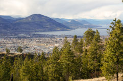 Penticton Canada Cityscape. A view of Penticton Canada from above royalty free stock images