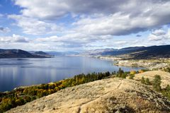 Penticton Okanagan Valley British Columbia Canada. View of the City of Penticton from Munson Mountain. Penticton is a small city located  in the Okanagan Valley Royalty Free Stock Photos