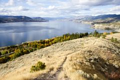 Penticton Okanagan Valley British Columbia Canada. View of the City of Penticton from Munson Mountain. Penticton is a small city located  in the Okanagan Valley Royalty Free Stock Image