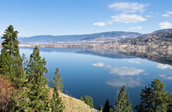Penticton and Skaha Lake Royalty Free Stock Photos