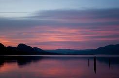 Penticton solnedgång Arkivfoton