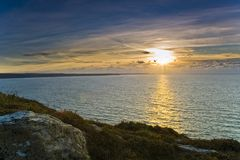 Pentire Point sunset Stock Image