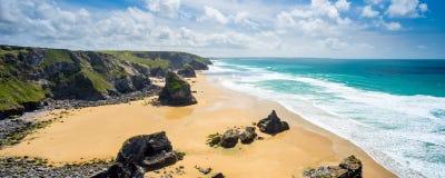 Pentire Steps Beach Cornwall Stock Image