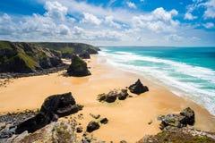 Pentire Steps Beach Cornwall Royalty Free Stock Photos