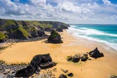 Pentire Steps Beach Cornwall Royalty Free Stock Photo