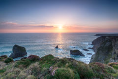 Pentire Steps in Cornwall Royalty Free Stock Photography
