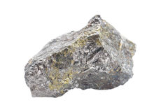 Pentlandite isolated on white Royalty Free Stock Photo