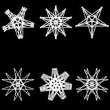 Pentogramm determinado del modelo geométrico de la astrología Imagen de archivo libre de regalías