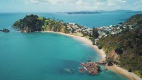 Pentola aerea della costa della Nuova Zelanda archivi video