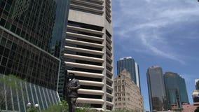 Pentola Brisbane del centro di inclinazione stock footage