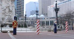 Pentola del cerchio del monumento a Indianapolis, Indiana 4K stock footage