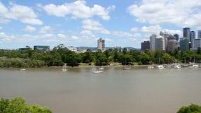 Pentola del fiume di Brisbane stock footage