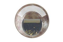Pentola dell'oro con oro alluvionale naturale Fotografia Stock