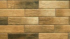 Pentola della casa senza cuciture decorativa marrone del mattone Fondo della muratura Figura blocco stock footage