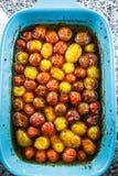 Pentola di Cherry Tomatoes arrostito Fotografia Stock