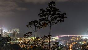 Pentola di Panamá di lasso di tempo del traffico cittadino stock footage