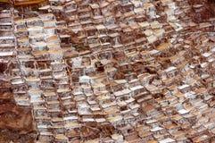 Pentole del sale di Maras - Peru South America immagini stock