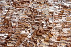 Pentole del sale di Maras - Peru South America fotografia stock libera da diritti