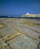 Pentole del sale, GOZO - isole maltesi fotografia stock