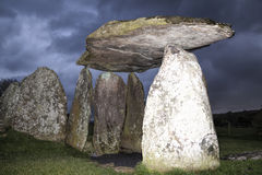 Pentre Ifan Bronze Age burial chamber, Wales Stock Photography