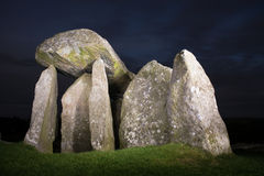 Pentre Ifan burial chamber on the Preseli Mountains in Pembrokes Royalty Free Stock Images