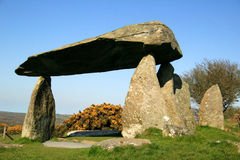 Pentre Ifan Dolmen. The Pentre Ifan Dolmen, is a prehistoric communal stone, burial chamber which dates from approx 3500BC Royalty Free Stock Images
