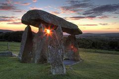 Pentre Ifan Sunset stock photography