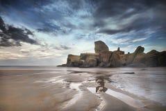 penunjuk пляжа Стоковые Изображения