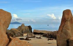 Penunjuk strand Terengganu, Malaysia arkivfoto