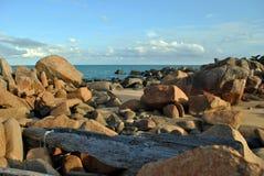 Penunjuk strand Terengganu, Malaysia royaltyfri fotografi