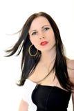Pełny ciało portret szczęśliwa uśmiechnięta piękna młoda kobieta Zdjęcie Stock