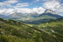 Penya Montanyesa в Aragonese Пиренеи, Испании стоковое фото rf