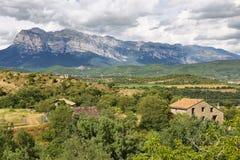 Penya Montanyesa in the Aragonese Pyrenees, Spain. Penya Montanyesa in the Aragonese Pyrenees, Huesca, Spain stock photography