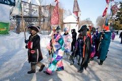 PENZA, RUSLAND - Februari 14. Stock Fotografie