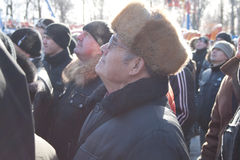 PENZA, RUSSLAND - 14. Februar. Stockfotografie