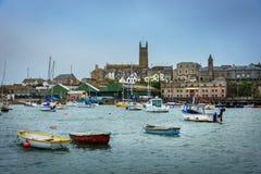 Penzance Cornwall - England UK fotografering för bildbyråer