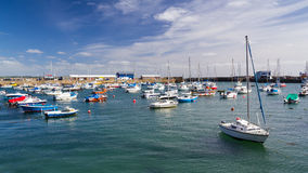 Penzance Harbour Cornwall England. Summers day at Penzance Harbour Cornwall England UK Europe Stock Photos