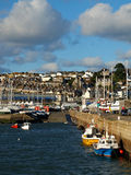 Penzance Harbour and Marina. Quayside in Penzance harbour and marina in Cornwall Stock Photos