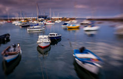 Penzance harbour at sunset Stock Image