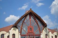 Peolpes-Hausdach in szerencs Stadt Lizenzfreies Stockfoto