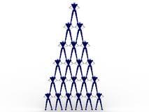 peolplepyramid Arkivfoto