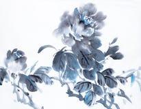 Peonía azul marino stock de ilustración