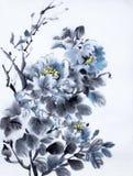 Peonía azul marino ilustración del vector